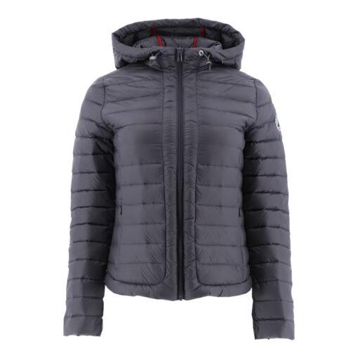 Chaqueta con capucha Jott de plumas pato Mujer AMBRE BASIC 5900AMB-504-ANTHRACITE Justoverthetop Color gris antracita