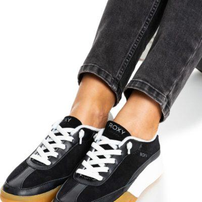 Zapatillas ROXY con cordones de cuero sintético Joey para Mujer Black (blk) Ref. ARJS100029 Negras