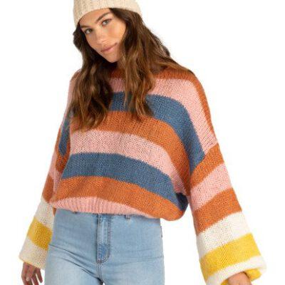 Cárdigan jersey BILLABONG corto cuello barco para Mujer Soft Wind MULTI (1220) Ref. Z3JP02BIF1 multicolor